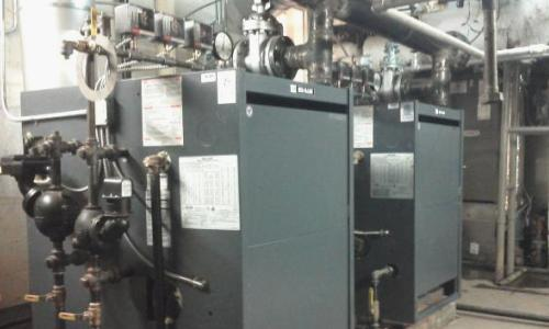 Boiler installation services.