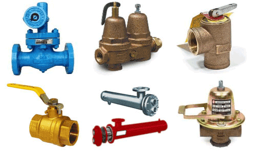 Boiler repair parts and components.