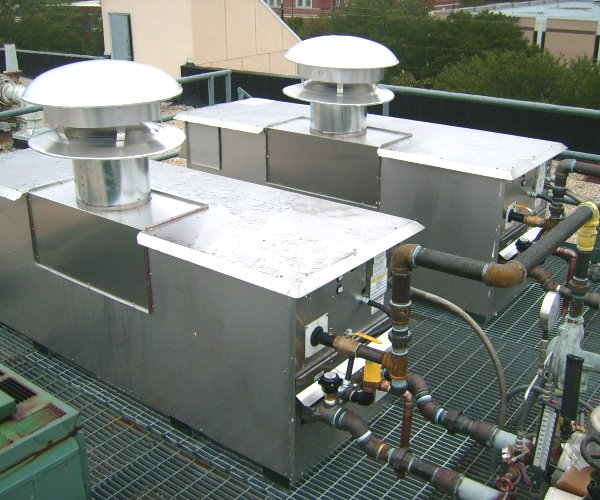 Rooftop Mounted Boilers