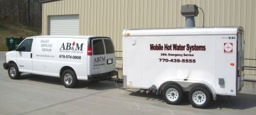 Mobile rental boiler systems for temporary hot water solutions.